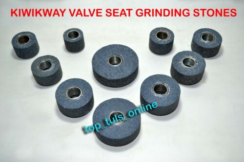 KWIKWAY VALVE SEAT GRINDING STONE SET 10 PC STEEL THREAD BUSH INSIDE 13//16/""