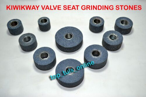 KWIKWAY VALVE SEAT GRINDING STONE SET 10 PC 100 GRIT FINE