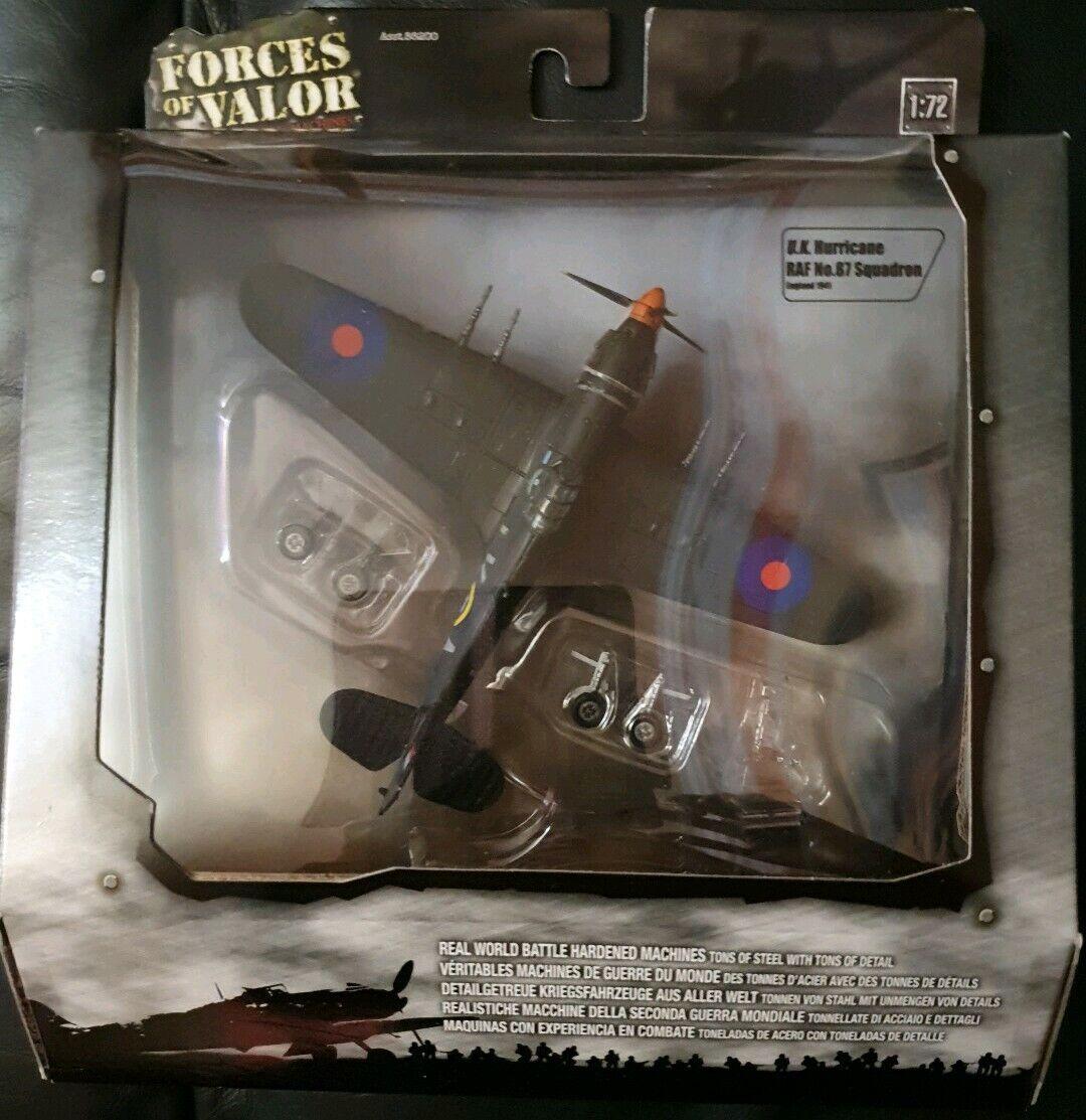 Forces of Valor U.K. Hurricane RAF No.87 Sqn England 1941 Asst 88200 No85229 NEW