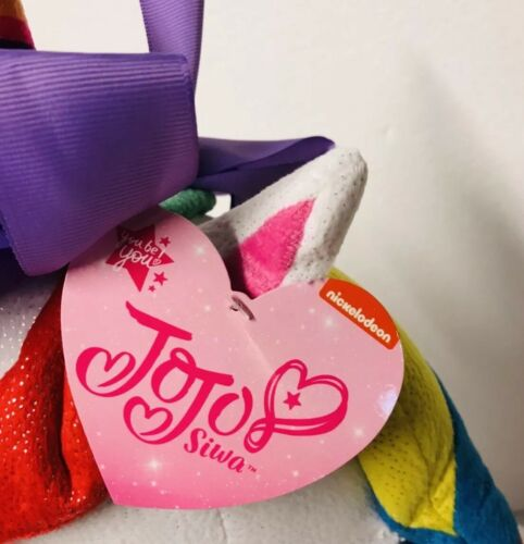 "Nickelodeon JoJo Siwa Plush White Rainbow Unicorn 23/"" Large Stuffed Horse Toy"