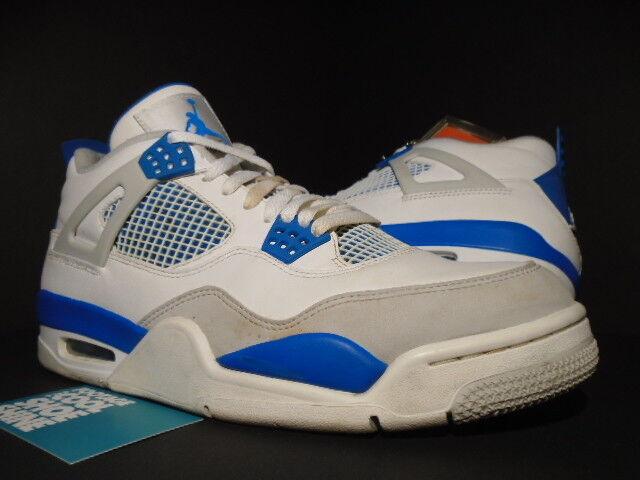 NIKE AIR JORDAN IV 4 RETRO OG WHITE MILITARY blueE CEMENT COOL GREY 308497-105 10