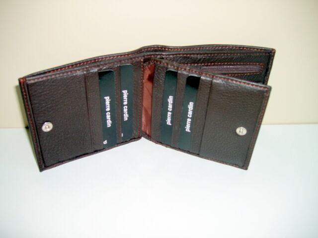 Pierre Cardin RFID Men/'s Wallet Bi-Fold Genuine Italian Leather Black