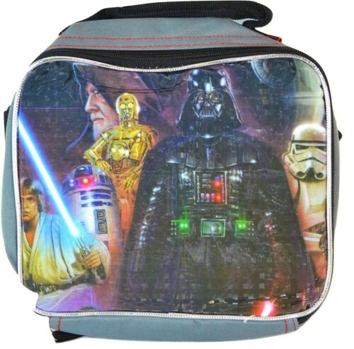 """STAR WARS DARTH VADER 16/"""" Full-Size Backpack w//Attached Insulated Lunch Tote Box"""