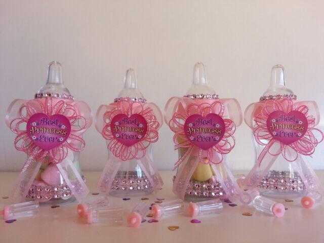 12 Fillable Bottles Best Princess Ever Baby Shower Favors Prizes