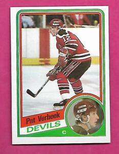1984-85-TOPPS-90-DEVILS-PAT-VERBEEK-ROOKIE-NRMT-MT-CARD-INV-C0237