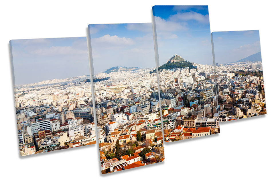 Athens Greece Skyline City Picture MULTI CANVAS WALL ART Print