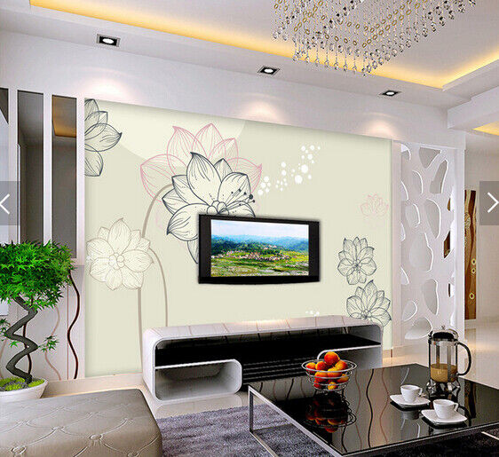 3D Petals Sketch 558 Wallpaper Murals Wall Print Wallpaper Mural AJ WALL AU Kyra