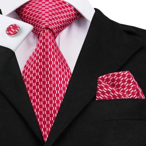 Classic Solid Paisley Stripe Check Mens Tie 100/% Jacquard Woven Silk Necktie Set