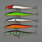 5pcs/lot Fishing Lures Laser Minnow 12cm/10g Plastic Bass Hard Baits Fish Tackle