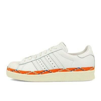adidas Superstar 80s New Bold W White White Off White Schuhe Sneaker Weiß Orange | eBay