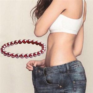 Fashion-Pure-Natural-Garnet-Bracelet-Jewelry-Gemstone-Round-Beads-Bracelet-GY