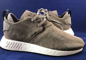 ever popular best sale shades of Details about Adidas NMD C2 Suede Chukka Boost Size 9 Simple Brown Core  Black