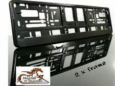 SuperB BLACK Frame - Pair of PLASTIC Number Plate Frame Holders License Plate