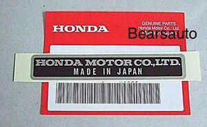 Image Is Loading Genuine Honda Acura Made In Japan Emblem Sticker