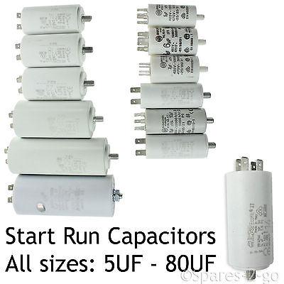 Universal Microfarad Start Run Motor Capacitors MFD 1.5uf 80uf Pre-Wired Cable
