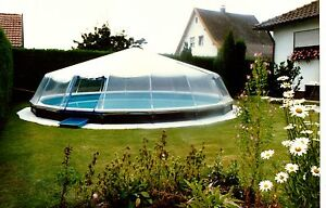 Details about ROUND HARD-SIDED SWIMMING POOL COVER FABRICO SUNDOMES CLEAR  VINYL SUNDOME COVERS