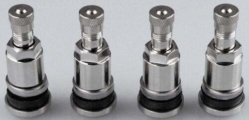 Breve 4x válvula de cromo//metal válvulas//neumáticos válvulas//noble plateado de metal válvulas
