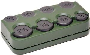 Grüne Euro Münzbox Münzen Halter Münzsortierer Zähler Spender HR Art. 856/70