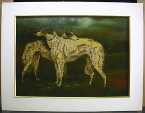 G DE SWERTSCHKOFF lévriers de chasse Jagd Windhunde 1925 HSP greyhounds paint 2kA8eDbp-07192525-480033387
