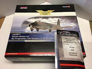 Corgi Aa35011 Gloster Meteor Fmk.8 Échantillon de l'usine Raf Horsham de l'escadron 74: 5055201901255
