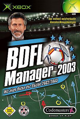 1 von 1 - BDFL Manager 2003 (Microsoft Xbox, 2002, DVD-Box)