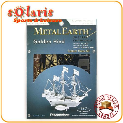 Fascinations Metal Earth Golden Hind 3D Miniature Steel Sailing Tall Ship Model