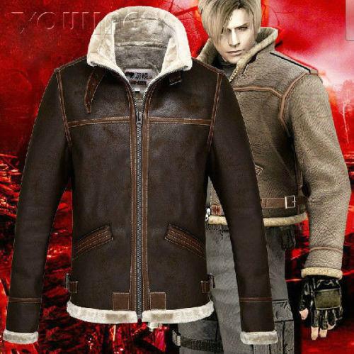 Resident Evil 4 Leon Scott Kennedy Juego  CosJugar Plus algodón chaquetas de cuero  gran descuento
