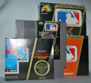 Major-League-Baseball-CIB-Cartridge-Box-Manual-NES-Nintendo-Game-Tested-Good