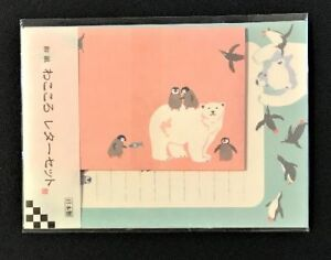 Letter-Sheet-Envelope-Set-Penguin-White-Bear-Stationery-Japanese