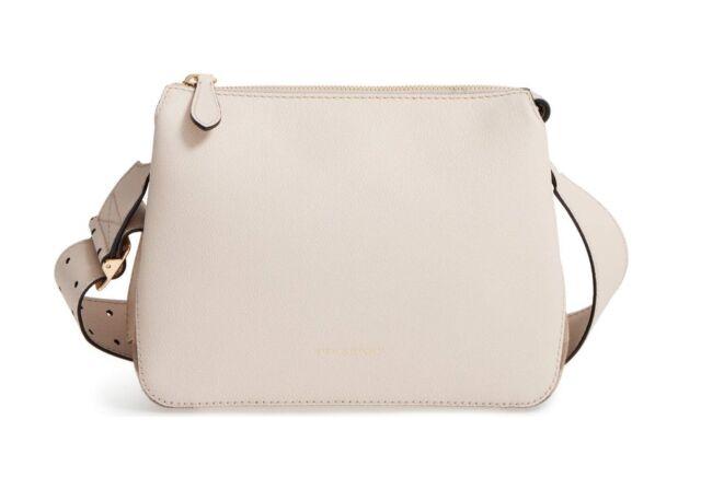 3d22238f1002 C34 Burberry Limestone Leather   Helmsley House Check Crossbody Bag ...