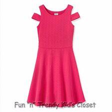 NWT RUUM American Kids Wear Girls Size 7/8 Knit Cold Shoulder Skater Dress NEW