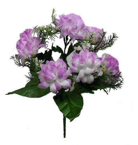 7 Mini Mums ~ Many Colors ~ Centerpieces Bride Bouquets Silk Wedding Flowers