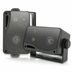 Outdoor-Patio-Speakers-Pair-System-Weatherproof-Indoor-Deck-Backyard-Pool-Black