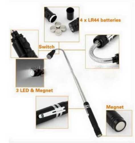 Telescopic Flexible 3 LED Lights-Torch-Magnetic Pickup Tool GB521MTF