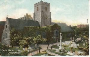 PC14548 The Parish Church. Folkestone. Hartmann. 1905