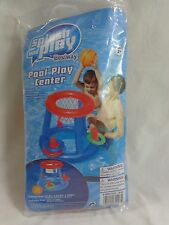 Floating Pool Play Center Inflatable Basketball Game Ring Toss Bestway Ages 3 Up