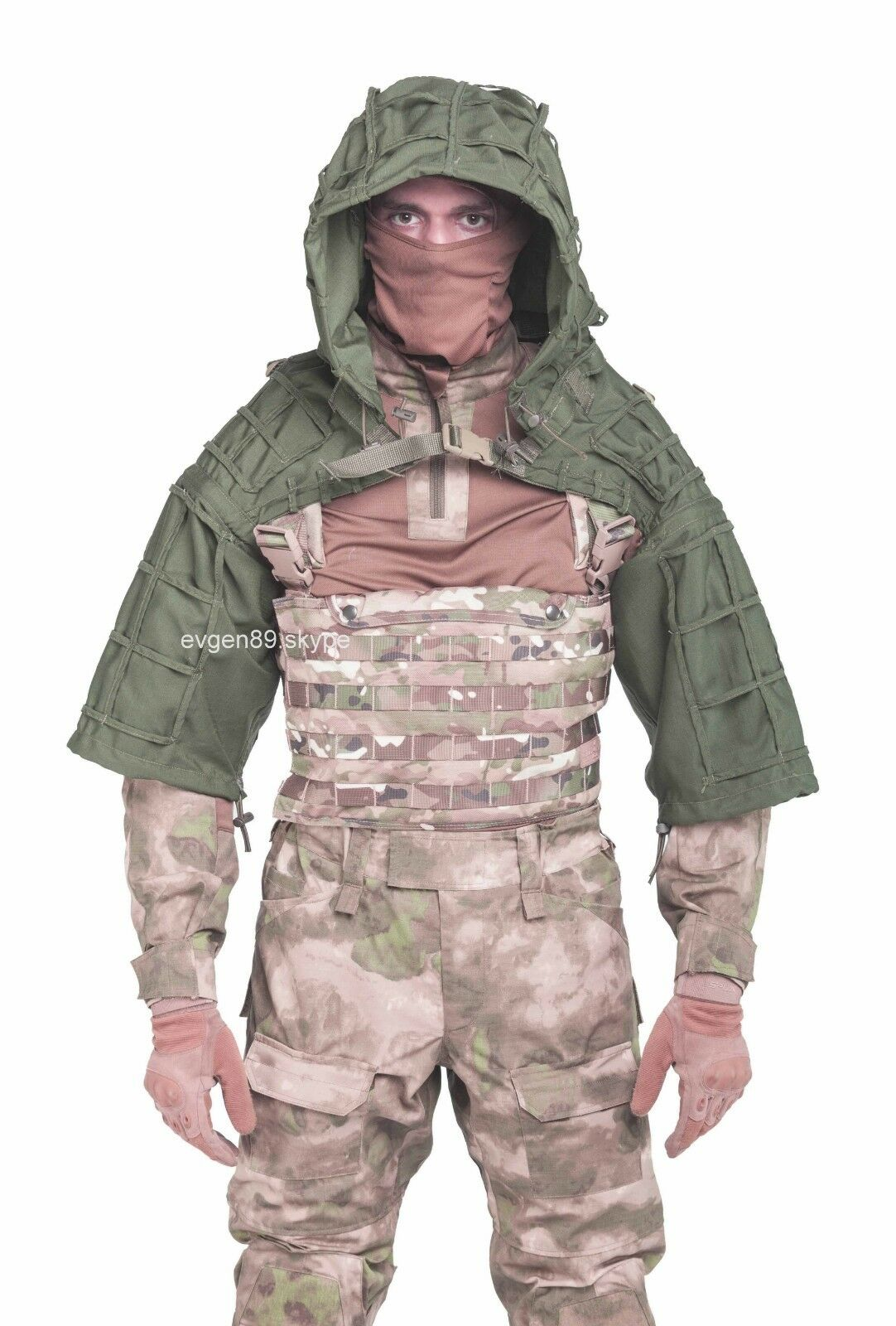 Disguise Sniper Coat   Viper Hood Russian Spetsnaz Olive