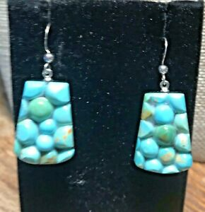 Jay-King-Blue-Turquoise-Nugget-amp-Tourmaline-Drop-Earrings-NWT