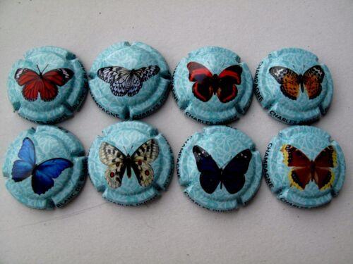 les papillons Série de 8 NOUV capsules de CHAMPAGNE  Charles DUGNE