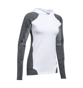 Under-Armour-UA-Women-039-s-ColdGear-Armour-Pullover-Hoodie-Large-White-New