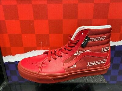 Vans SK8 Hi x Cordura Red Triple Red Sz 7.5 13 NEW DS Collab | eBay