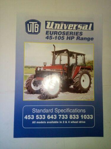 Conector Universal 453 533 643 733 833 1033 Folleto De Tractor A4 Talla 4 páginas