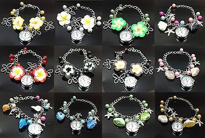 Offen Lady Jewelry Beads Flower Bracelet Watch Christmas Gift MöChten Sie Einheimische Chinesische Produkte Kaufen?