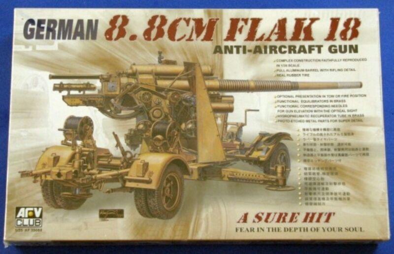 ◆ AFV 1 35  AF35088 German 8.8cm Flak18 Anti-Aircraft Gun
