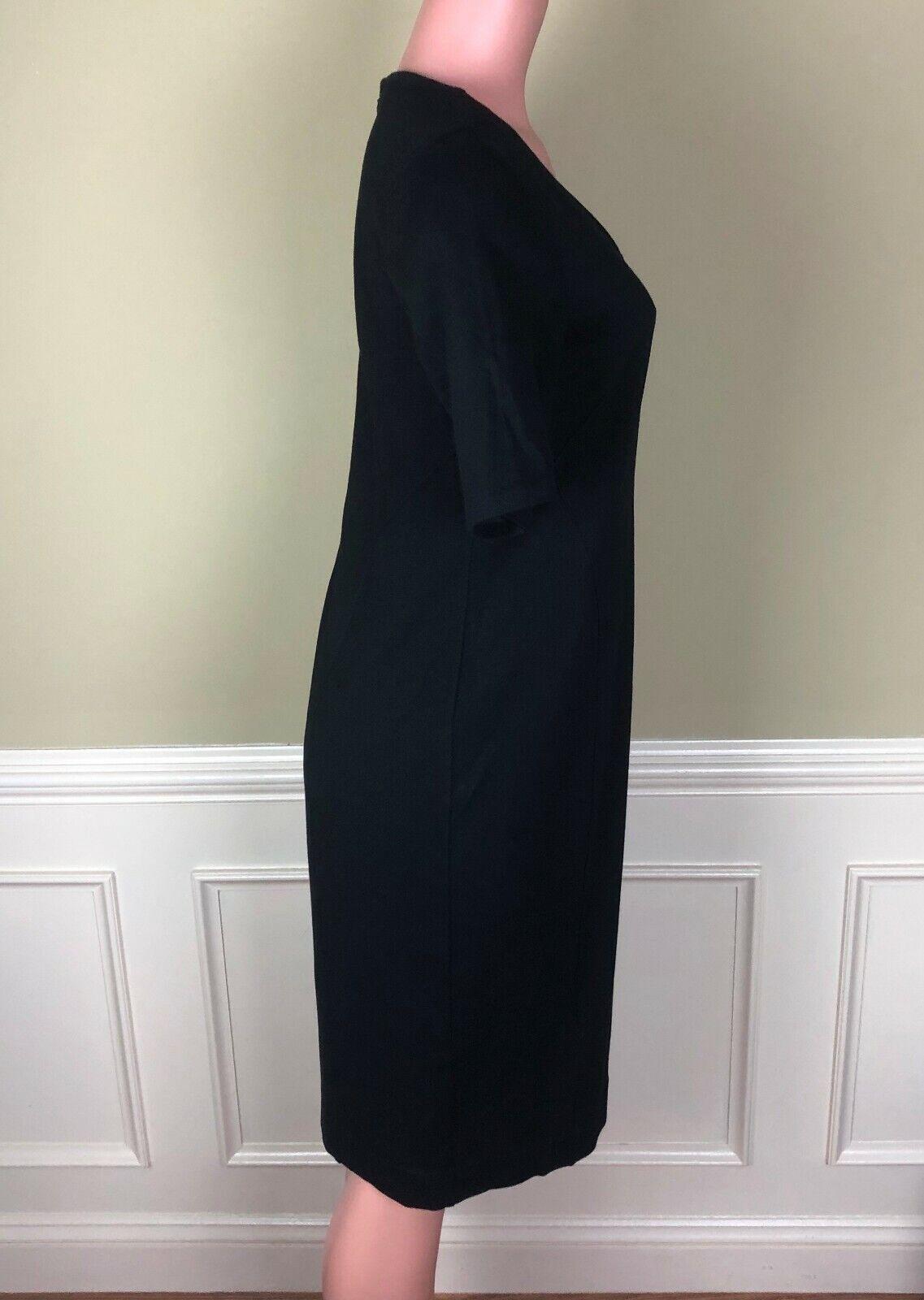 CAbi Claire Black Ponte Knit Sheath Dress Stretch… - image 3