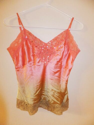 United Arrows Silk Camisole Pink XS
