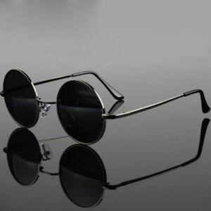 Polarized Steampunk Sunglasses Fashion Round Mens Metal Retro Glasses Eyewear