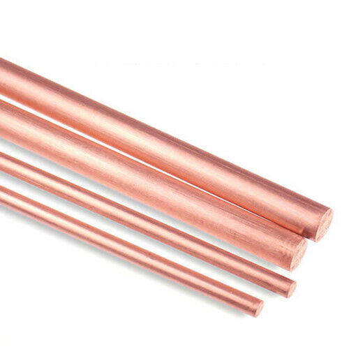 Pure Copper Rod T2 Cu Round Stick Bar Select Dia 3-12mm for Welding Metalworking