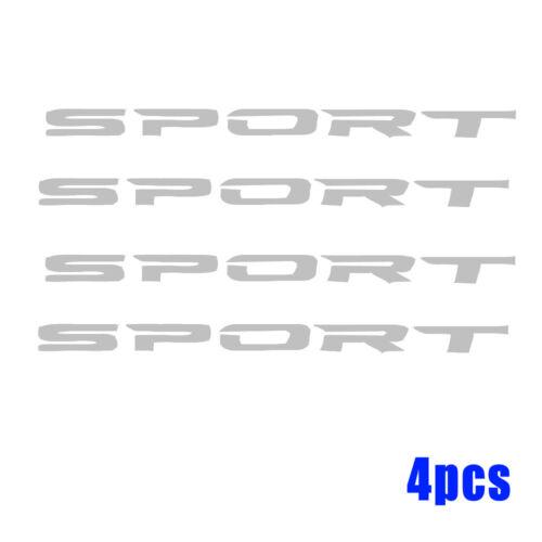 4pcs Stickers Creative Racing SPORT Car Rim Wheel Reflective PET Decal Graphic