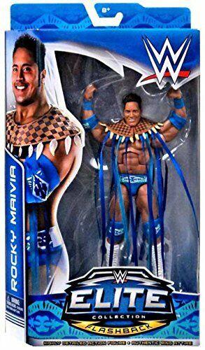 WWE Rock Maivia Flashback Elite Series 31 Mattel Wrestling Figure - New